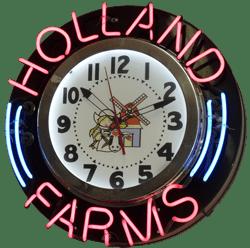 just neon clock